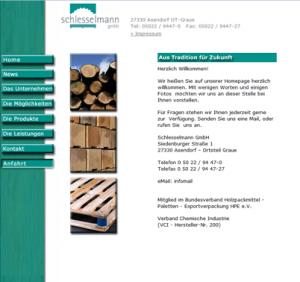 Webseite der Schlesselmann GmbH bis 2014